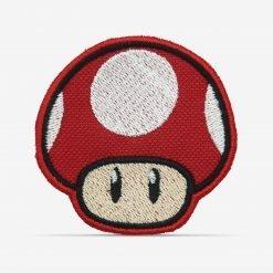 Patch Bordado Cogumelo Vermelho do jogo de videogame Mário com termocolante 6,4x6,4cm da PATCH GANG