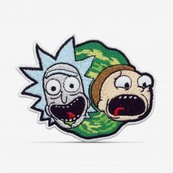 Patch Bordado Desenho Animado Rick and Morty com termocolante 8,5x6,5cm da PATCH GANG