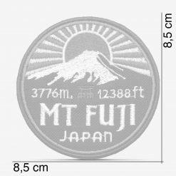Patch Bordado Monte Fuji, Japão, com termocolante 8,5x8,5cm da PATCH GANG