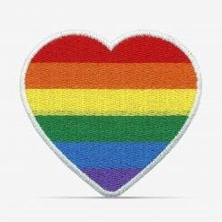 Patch Bordado Coração com bandeira LGBT, Orgulho LGBT, com termocolante 8,2x7,3cm da PATCH GANG