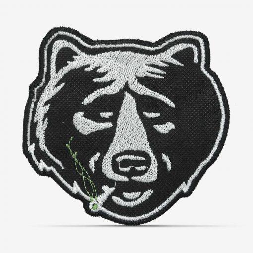Patch Bordado Urso fumando com termocolante 8,5x8,1cm da PATCH GANG