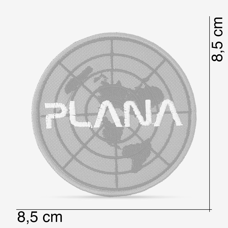 Patch BordadoTerra Plana com fonte da Nasa, com termocolante 8,5x8,5cm da PATCH GANG