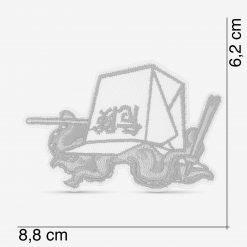 Patch Bordado Polvo in Box, com termocolante 8,8x6,2cm da PATCH GANG