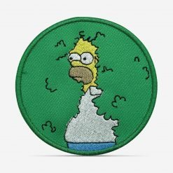 Patch Bordado Homer Arbusto, Os Simpsons, com termocolante 8,5x8,5cm da PATCH GANG