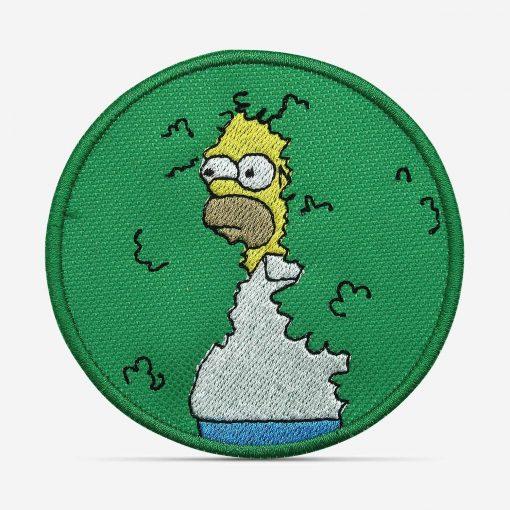 Patch Bordado Homer Arbusto, Os Simpsons, com termocolante 8,5x8,5cm da PATCH GANG