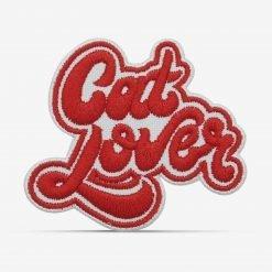 """Patch Bordado """"Cat Lover"""" """"Amante de gatos"""" com termocolante 8,5x7,4cm da PATCH GANG"""