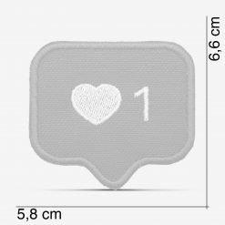 Patch Bordado Coração do instagram, modinha, com termocolante 5,8x6,6cm da PATCH GANG