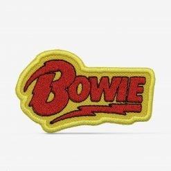 Patch Bordado Logo David Bowie amarelo, com termocolante 8,5x4,9cm da PATCH GANG