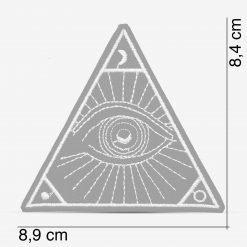 Patch Bordado Olho da Providência, Olho illuminati, com termocolante 8,9x8,4cm da PATCH GANG
