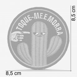 "Patch Bordado Cactus ""toque-me e morra"", modinha, com termocolante 8,5x8,5cm da PATCH GANG"