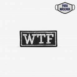 """Patch Bordado pequeno """"WTF"""" """"Mas que p*%ra"""" em português, com termocolante 3,5x1,5cm da PATCH GANG"""