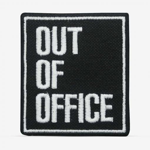 patch bordado adesivo termocolante customização out of office
