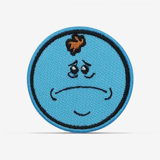 patch bordado adesivo termocolante customização Rick morty meeseeks triste