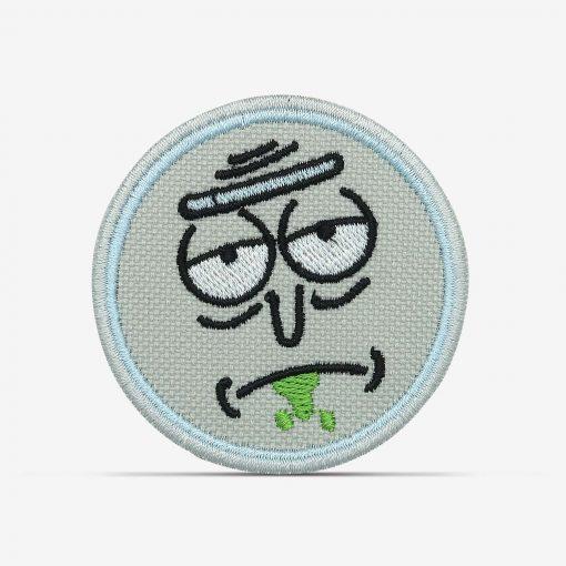 patch bordado adesivo termocolante customização Rick morty entediado